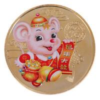 2020 jahr der ratte herausforderung münze chinesische tierkreis andenkenmünze