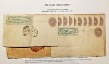 C) 1887 MEXICO, NUMERAL, WELLS FARGO EXPRESS ENVELOPE MULTIPLE STAMPS, AIRMAIL