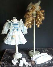 """Antique REPRODUCTION Style 10"""" DRESS Ensemble for Antique BISQUE & ARTIST DOLLS"""