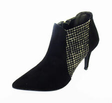 Suede Textured Ankle Women's Boots