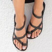 Boho Women Clip Toe Sandals Summer Flats Beach Thong Shoes Slippers Comfort New