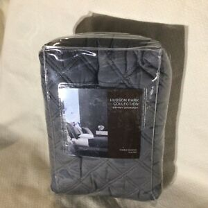 Hudson Park Double Diamond Quilted CHARCOAL Standard Sham