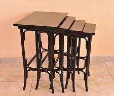 Set of four Jugendstil  nesting table, Thonet, c. 1900, restored condition