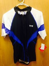 TYR Male Cycling Jersey Blk/Blue Short Sleeve SIZE XL - MSRP $74.00