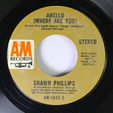 Rock 45 Shawn Phillips - Anello (Where Are You) / Hey Miss Lonely On A&M Records