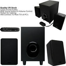 QUALITY 2.1 Laptop PC Surround Sound Speaker System – Active TV Home Audio Hi-Fi