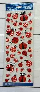 44 Ladybug Puffy Stickers Planner Supply Cards Papercraft DIY Crafts Scrapbook