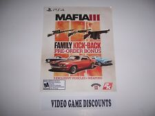 Mafia III 3 Famliy Kick-Back Bonus DLC Add-on Code for PlayStation 4 PS4