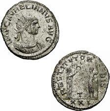 Aurelian Antoninian Antiochia 274-275 RESTITVT ORBIS Kaiser Kranz Frau RIC 386