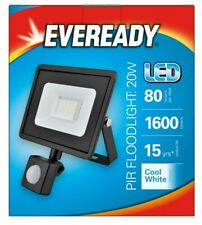 Eveready LED PIR Security Light 4000K IP44 Outdoor Floodlight 1600 Lumen 20W