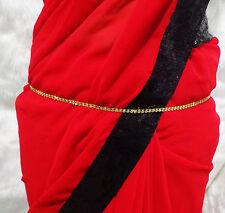 Golden CZ Waist Belt Indian Bollywood Ethnic Kamar Bandh Woman Hip Chain Jewelry
