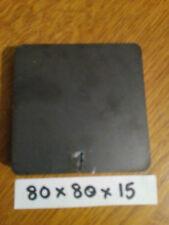 15mm Mild Steel Sheet Plate Square 80x80x15