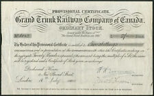Canada: Grand Trunk Railway Co. of Canada, Ordinary stock, provisional cert, ...