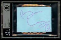 Brian May signed autograph auto 3x4 cut Lead Guitarist for Queen BAS Slabbed