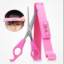 Send from AU Clipper Scissor with Teeth + Spirit Level Ruler Fringe Cut Tool Kit