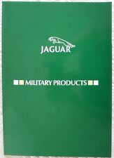JAGUAR MILITARY PRODUCTS Rare Glossy Sales Brochure  Fox Scout Stonefield Ferret