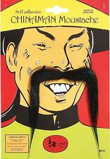 New Chinaman Mandarin Oriental Asian Fu Manchu Moustache Tash Fancy Dress P2042