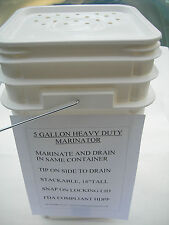 Heavy Duty Marinator Drum,Fda.Stackable Use With Your Broaster* Pressure Fryer