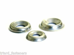 NO: 6 (3.5mm) Surface Screw Cup Finishing Washers Stainless A2 - 100 PACK