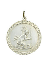 Silver Round St. Christopher Pendant Made To Order in Jewellery Quarter B'ham