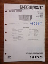 Service-Manual Sony ta-ex880/ms717 amplifier, ORIGINALE