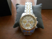 Invicta Men's I Chronograph 18k Gold-Plated Two-Tone Stainless Steel Date Watch