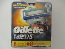 8 GILLETTE FUSION 5 PROGLIDE REFILL CARTRIDGES - NEW & SEALED - EL 496R