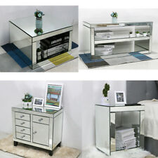 Mirrored TV Stand Table Cabinet Unit Side Tables Sideboard Console Coffee Table