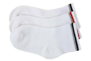Stride Rite Boy's 3-Pairs Comfort Seam Navy Tip Quarter Crew Socks