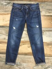 VINCE Size 27 Mason Relaxed Rolled Skinny Distressed Vintage Wash JEANS Ankle