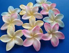 Shimmer Tipped Edge Edible Frangipani Flower Decorations X30 Cake Topper Luau
