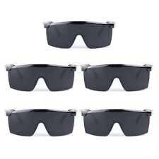 Work & Sports Safety Glasses EN166 CE Certified (Gray/Black Anti-Scratch & Fog)