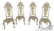 46166EC/67EC: Set Of 4 Gold Decorated High Back Italian Chairs