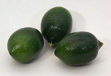 DESIGNER Deko drei (3) künstliche Faux Fake Lime Obst