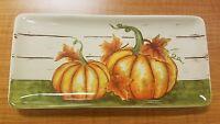 BRAND NEW Maxcera Pumpkin Halloween Thanksgiving Plate Platter Home Decor