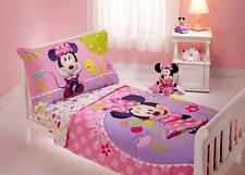 Minnie Mouse Sweet As Minnie 4pc Quilt Sheets Pillowcase Toddler Bedding Set New