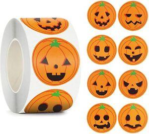 Halloween Pumpkin Orange Stickers Seals Label Gift Scrapbooking Spooky 3.5CM