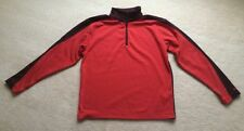 MENS NIKE GOLF PULLOVER Size Medium Dri-Fit red Burgundy 1/4 zip jacket shirt
