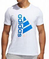 Adidas Mens T-Shirt Classic White Size XL Brilliant Graphic Logo Tee $25- 283