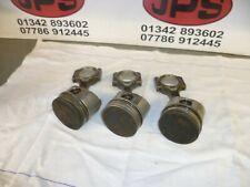 Set of 3x pistons & Conrods X yanmar  3TN66-UC engine ....£70+VAT