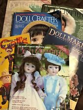 6 Doll Crafter Dollmaking Magazines 1980-90s