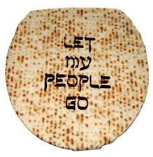 "NEW Davida ""Let My People Go"" Toilet Lid Cover Silk-Screened"