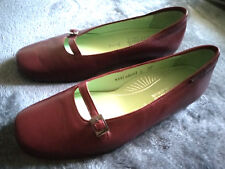 Womens MEPHISTO Cool-bugundy Leather Slip Ons Loafers Shoes Sz 8.5