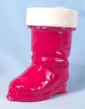 Santa Claus Boot Candy Container Christmas Decoration Papier Mache Vintage #3