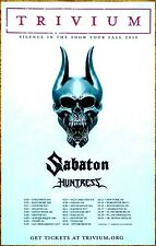 TRIVIUM SABATON HUNTRESS Silence In The Snow Tour 2016 Ltd Ed RARE Poster! Metal