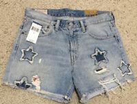 By Alina Jeansshorts Corsage Jeans Hotpants Hochbund  Destroyed Shorts XXS-S
