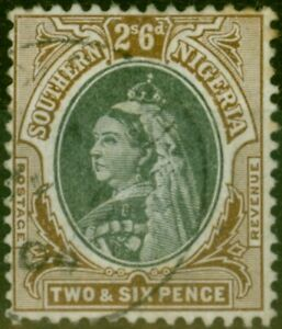 Southern Nigeria 1901 2s6d Black & Brown SG7 Fine Used