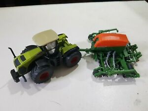 Claas Xerion tractor with Amazone Seeder 1:87 Scale by Siku - 1826