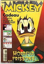 LE JOURNAL DE MICKEY n°2380 ¤ 1998 ¤ AVEC CADEAU CARTES CLUB DE L'ANGOISSE