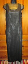 Ladies Black Sheer Sleeveless Long Dress UK 18 Next